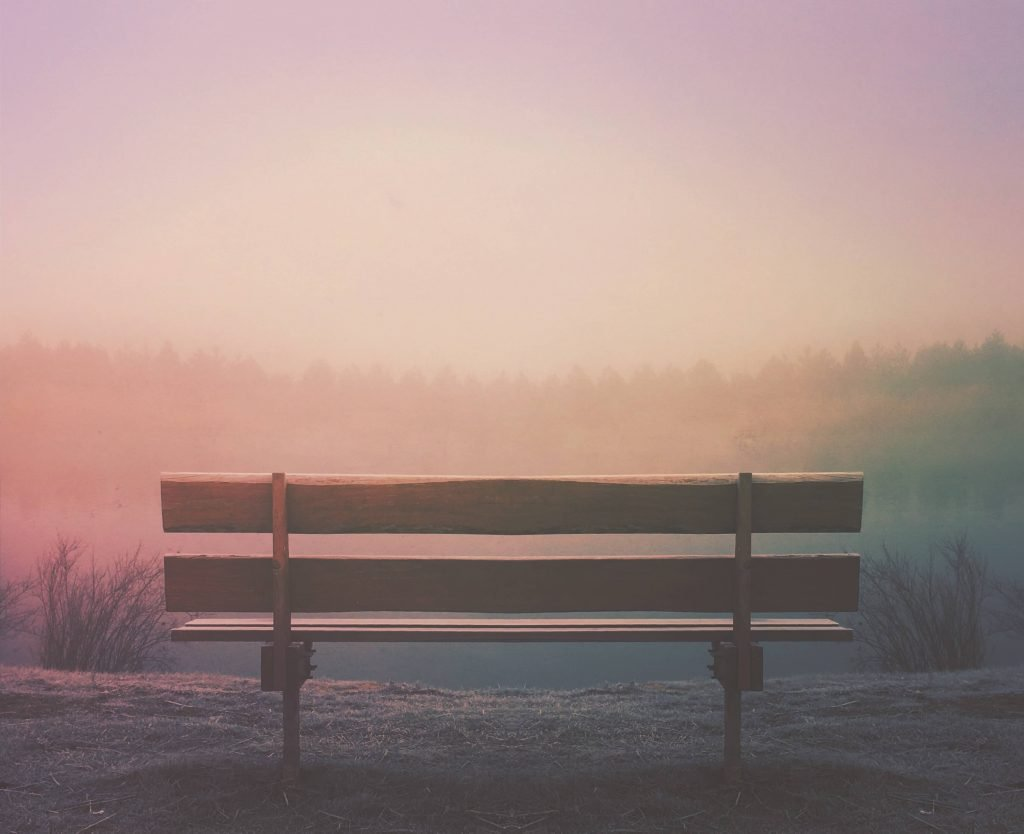 Patience and Money described by park bench